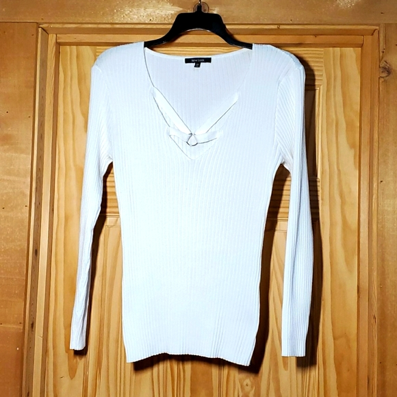 New Look ribbed sweater 3X, white ribbed